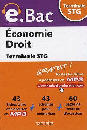 E.Bac; Economie-Droit ; Terminale Stg