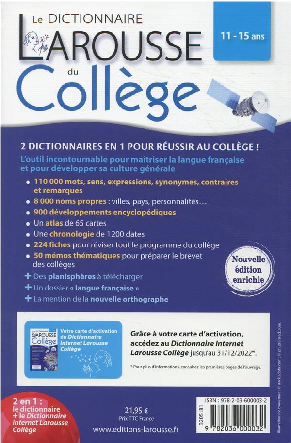 Le dictionnaire Larousse du collège ; bimédia