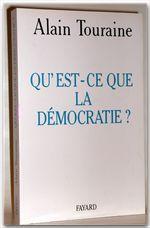 Vente Livre Numérique : Qu'est-ce que la démocratie ?  - Alain TOURAINE