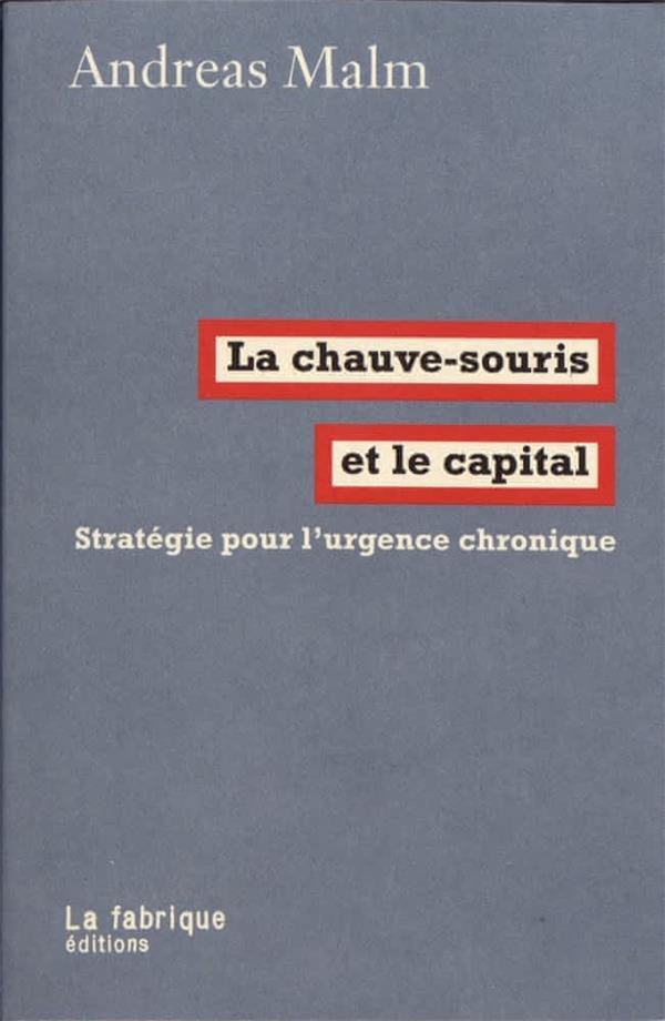 La chauve-souris et le capital ; stratégie pour l'urgence chronique