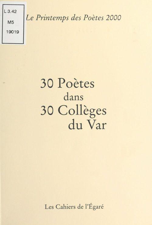 30 poètes dans 30 collèges du Var