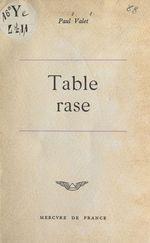 Vente EBooks : Table rase  - Paul Valet