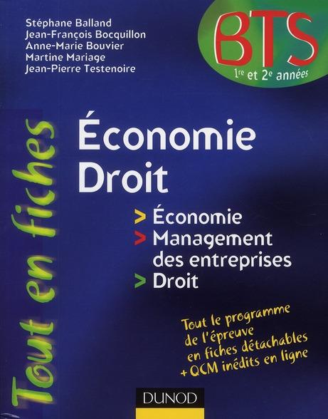 économie, droit ; BTS 1ère et 2ème années
