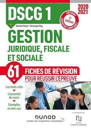 DSCG 1 ; gestion juridique, fiscale et sociale ; fiches de révision (2e édition)