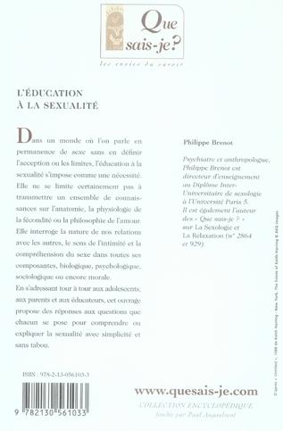 L'éducation à la sexualité (2e édition)