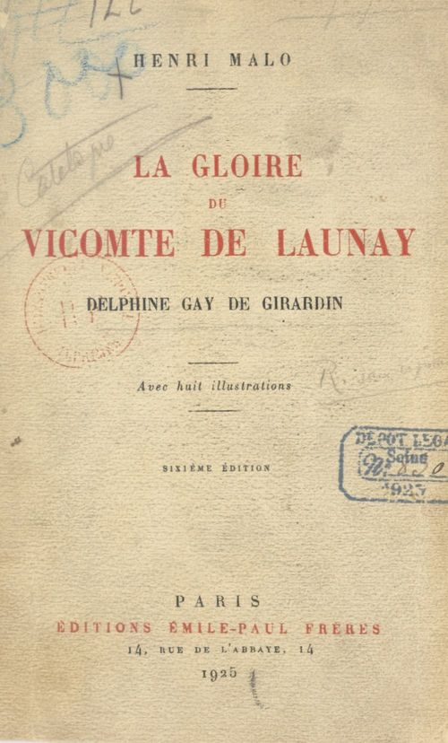 La gloire du vicomte de Launay  - Henri Malo
