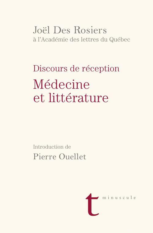 Medecine et litterature. discours et reception
