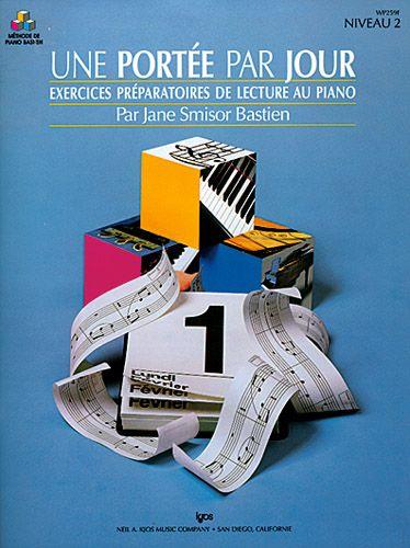 Une portée par jour ; exercices préparatoires de lecture au piano ; niveau 2