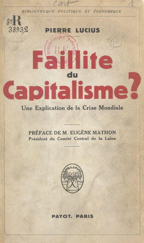 Faillite du capitalisme ?