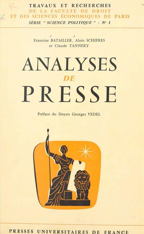 Analyses de presse