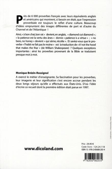Dictionnaire Des Proverbes Francais Anglais Anglais Francais Monique Rossignol La Maison Du Dictionnaire Grand Format Le Hall Du Livre Nancy