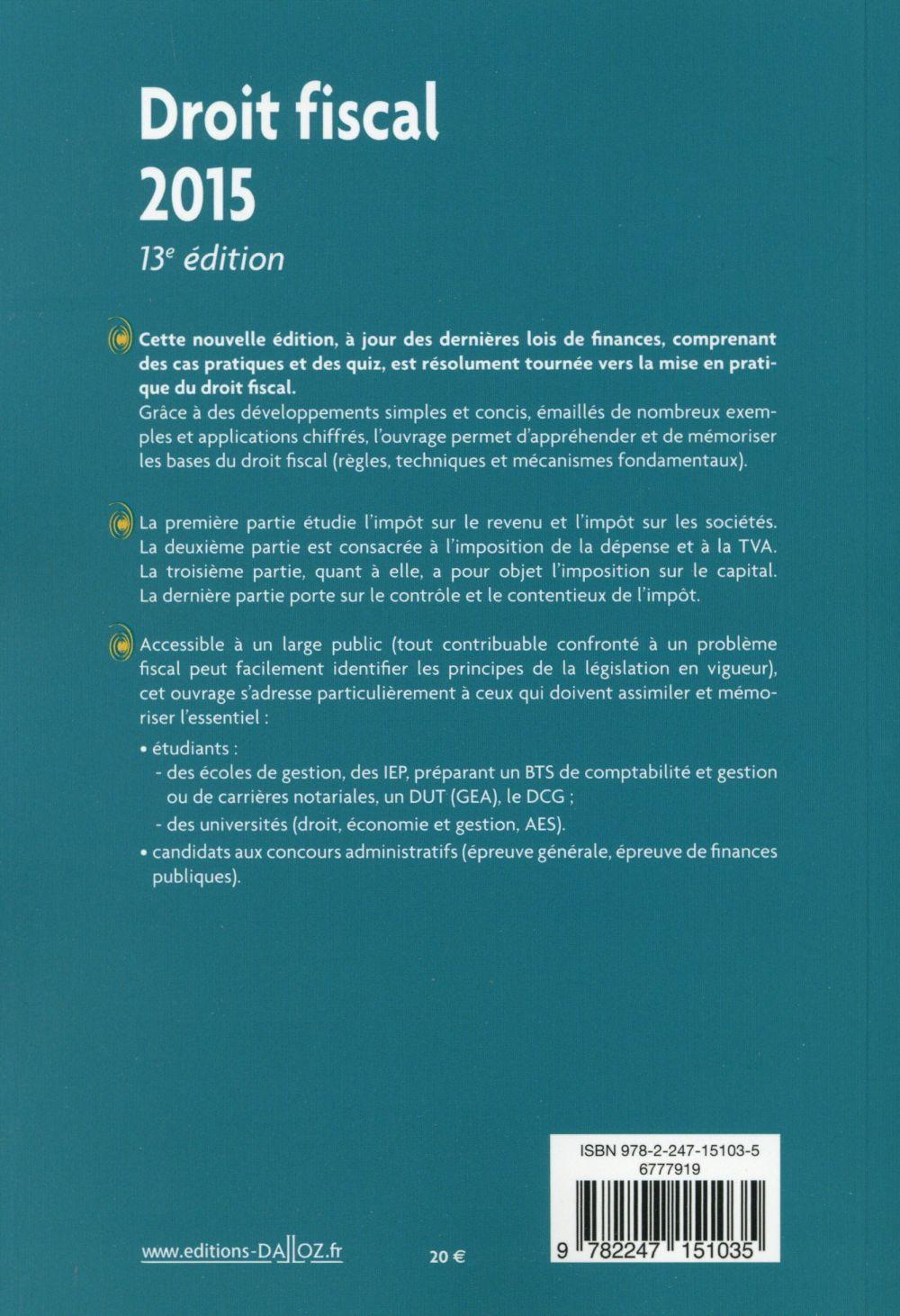 Droit fiscal (13e édition)