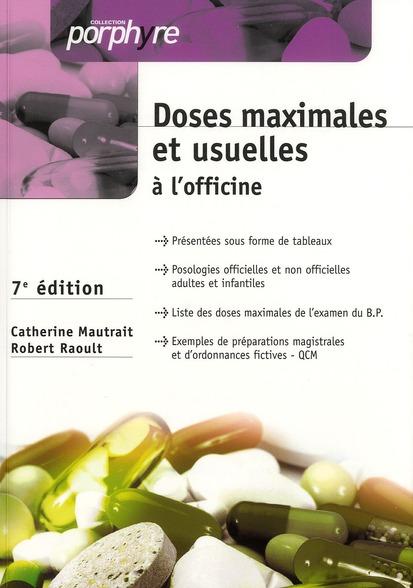 Doses Maximales Et Usuelles 7e Ed