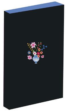 Carnet bouquet brodé