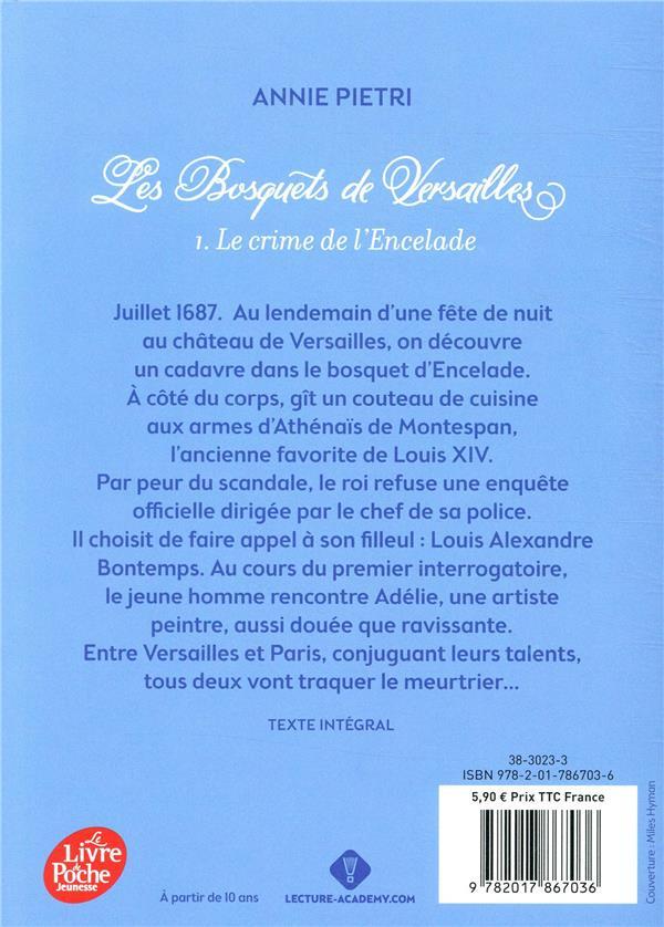 Les bosquets de Versailles T.1 ; le crime de l'encelade