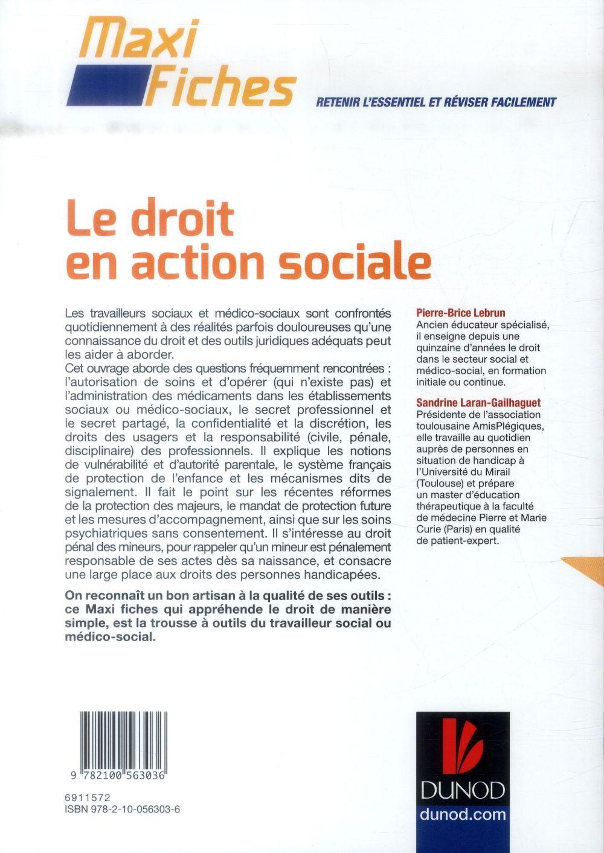 maxi fiches ; le droit en action sociale