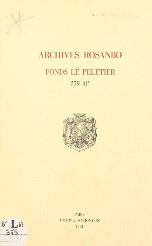 Archives rosanbo