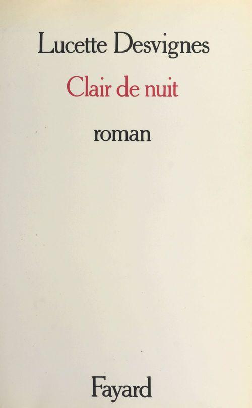 Clair de nuit