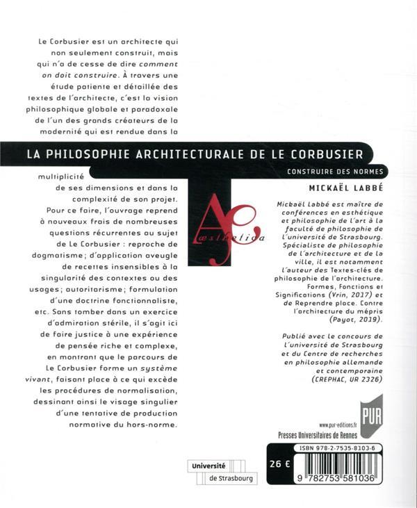 La philosophie architecturale de Le Corbusier