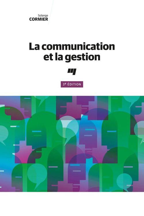 Communication et la gestion (la) 3e  edition
