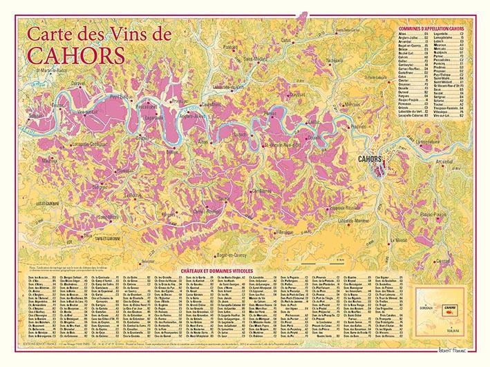 Carte des vins de Cahors