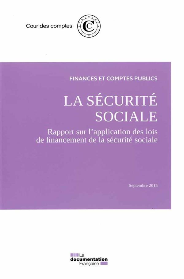 La sécurité sociale ; septembre 2015