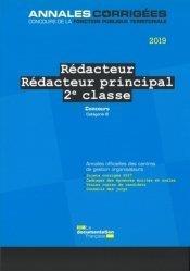 Rédacteur ; rédacteur principal de 2e classe ; concours (édition 2021)