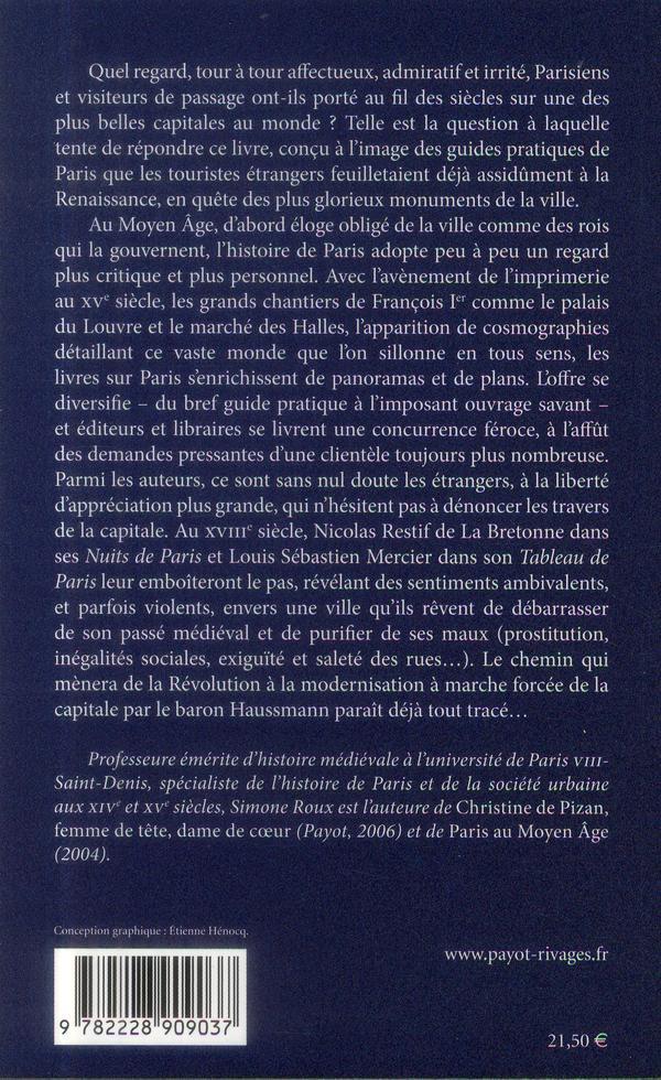 Regards sur Paris ; histoires de la capitale (XIIe-XVIIIe siècles)