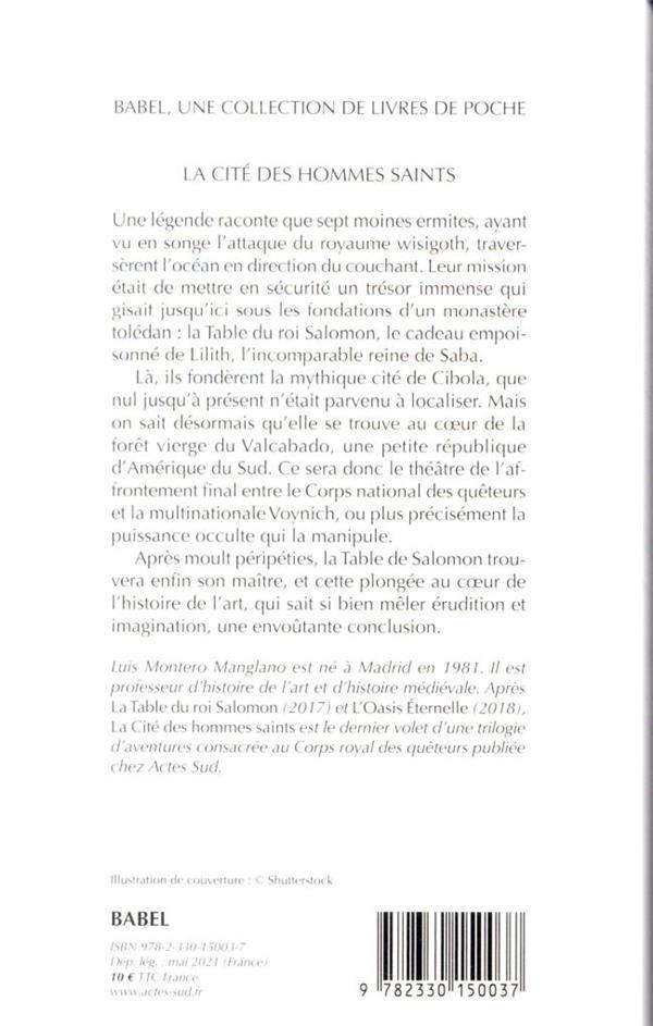 Corps royal des quêteurs t.3 ; la cité des hommes saints