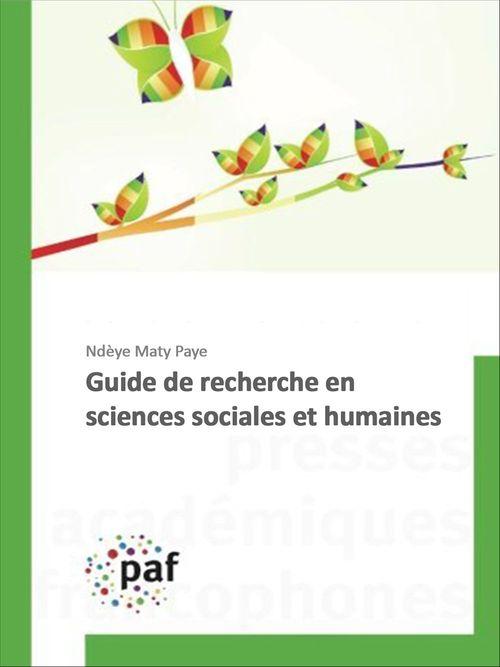 Guide de recherche en sciences sociales et humaines