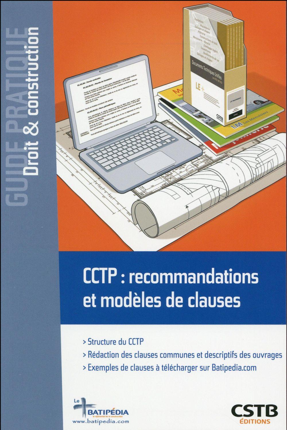 CCTP : recommandations et modèles de clauses