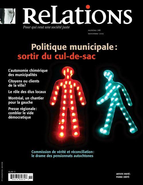 Relations. No. 768, Octobre-Novembre 2013