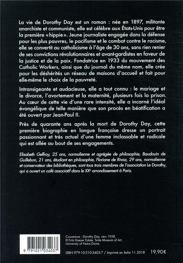 Dorothy Day ; la révolution du coeur