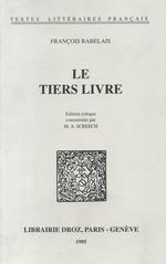 Le Tiers Livre  - François Rabelais