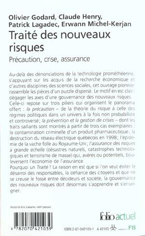 Traite des nouveaux risques - precaution, crise, assurance
