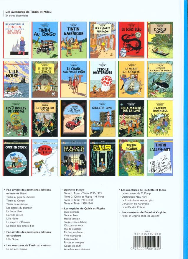 Les aventures de Tintin T.4 ; les cigares du pharaon