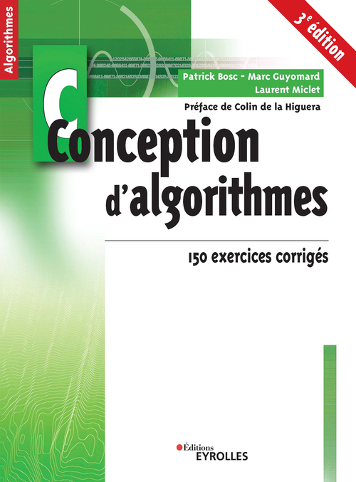 Conception d'algorithmes ; 150 exercices corrigés
