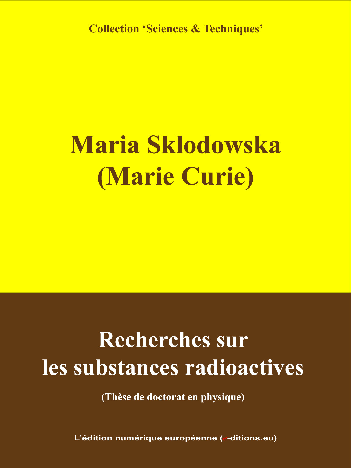 Recherche sur les substances radioactives