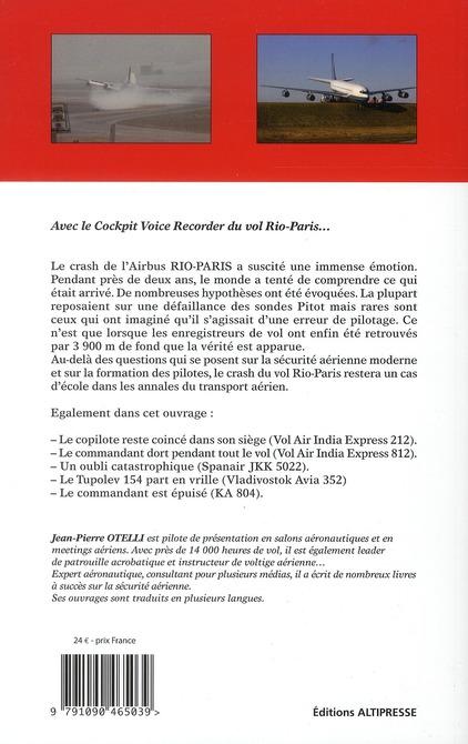 Erreurs de pilotage t.5 ; crash Rio-Paris... avec l'enregistrement complet des conversations dans le cockpit...