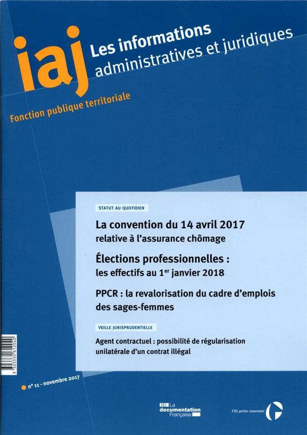 Informations administratives juridiques n.11 ; fonction publique territoriale