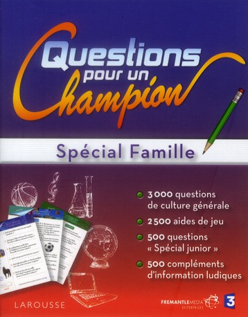 Grand Test ; Questions Pour Un Champion ; Special Famille