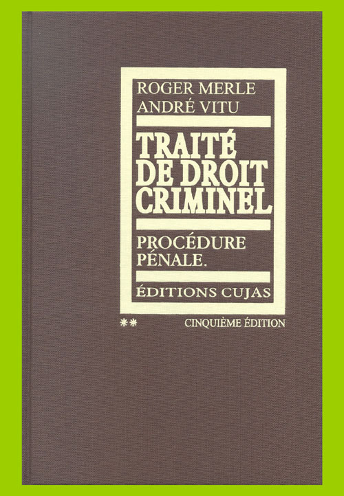 traité de droit criminel t.2 ; procédure pénale (5e édition)