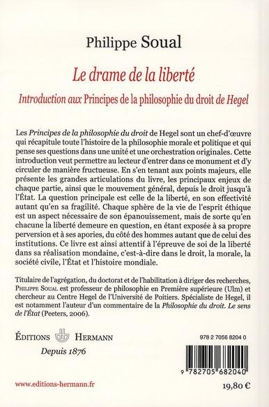 Le drame de la liberté ; introduction aux principes de la philosophie du droit de Hegel
