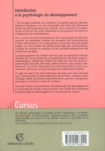 Introduction A La Psychologie Du Developpement Du Bebe A L Adolescent 2e Edition Catherine Tourrette Armand Colin Grand Format Le Hall Du Livre Nancy