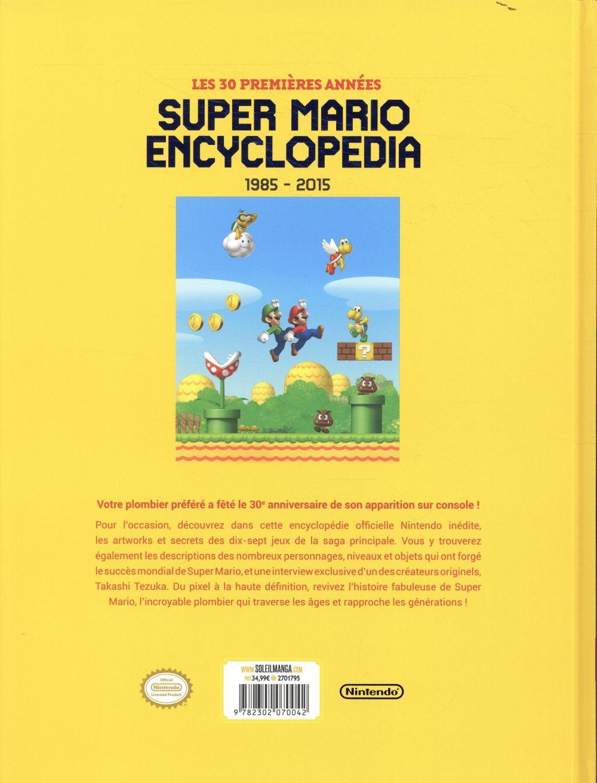 Super Mario ; encyclopedia ; 1985-2015