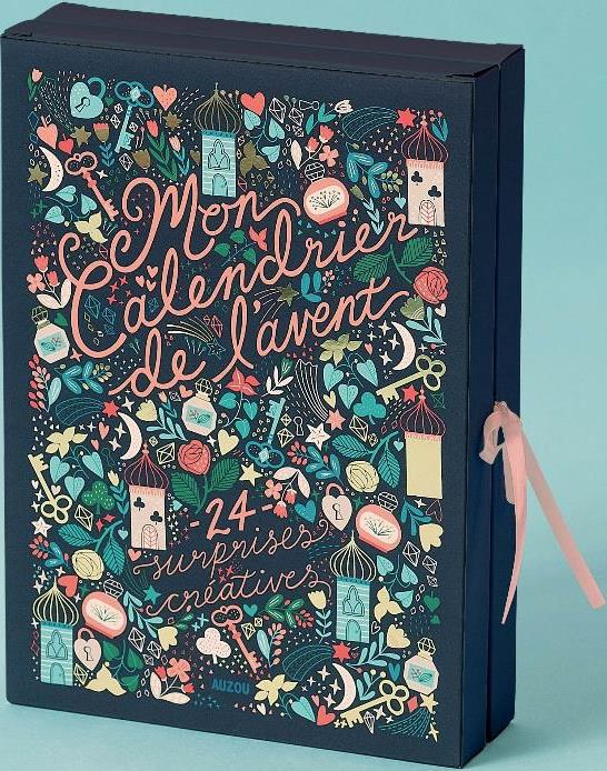Mon Calendrier De L Avent 24 Surprises Creatives Feena Brooks Philippe Auzou Papeterie Coloriage Albertine New York