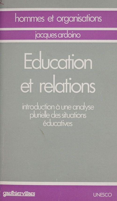 Ardoino/education relat.