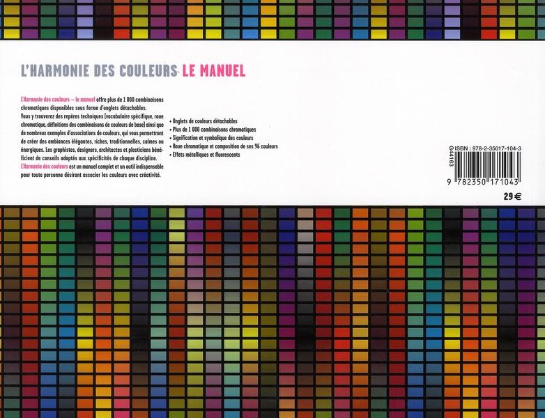 L'harmonie des couleurs ; le manuel