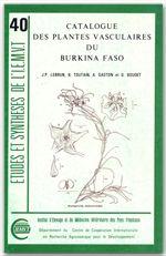 catalogue des plantes vasculaires du Burkina Faso