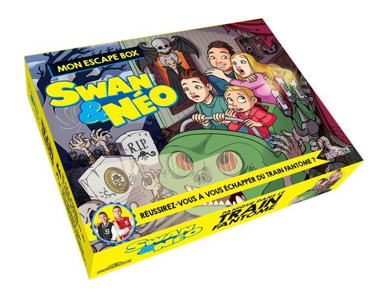 Swan & Néo ; mon escape box ; panique dans le train fantôme